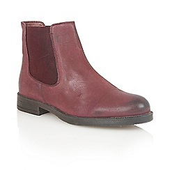 Lotus - Bordeaux leather 'Falcon' ankle boots