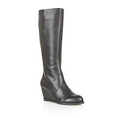 Lotus - Black leather ' Zargos' knee high boots