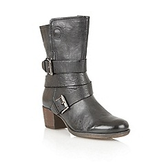 Lotus - Black leather 'Riva' calf boots
