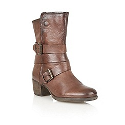 Lotus - Brown leather 'Riva' calf boots