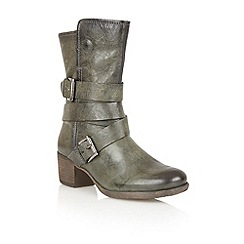 Lotus - Forest green leather 'Riva' calf boots