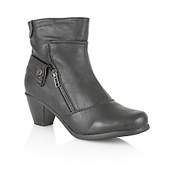 Lotus - Black 'Viper' ankle boots