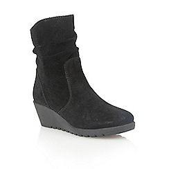 Lotus - Black suede 'Taxus' ankle boots