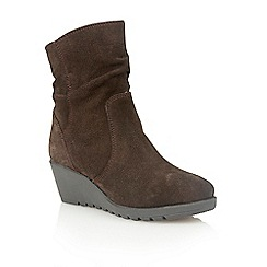 Lotus - Brown suede 'Taxus' ankle boots