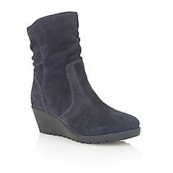 Lotus - Navy suede 'Taxus' ankle boots
