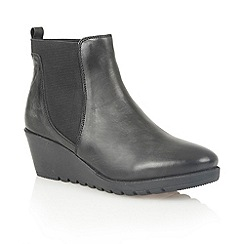 Lotus - Black leather 'Meryl' ankle boots