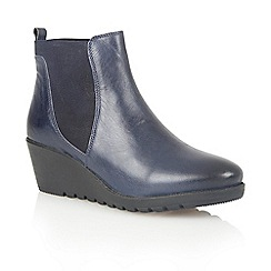 Lotus - Blue leather 'Meryl' ankle boots