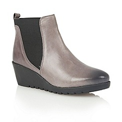 Lotus - Grey leather 'Meryl' ankle boots