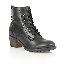 Lotus - Black leather 'Malia' ankle boots