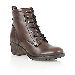 Lotus - Brown leather 'Malia' ankle boots