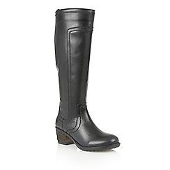 Lotus - Black leather 'Joya' boots