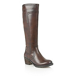 Lotus - Brown leather 'Joya' boots