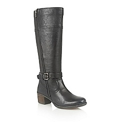 Lotus - Black leather 'Staci' boots