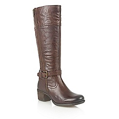 Lotus - Brown leather 'Staci' boots