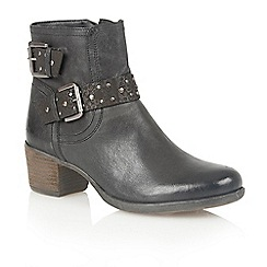 Lotus - Black leather 'Dicio' ankle boots