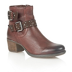 Lotus - Bordeaux leather 'Dicio' ankle boots