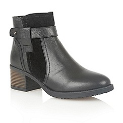 Lotus - Black leather 'Madisyn' ankle boots