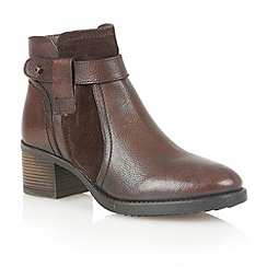 Lotus - Dark brown leather 'Madisyn' ankle boots