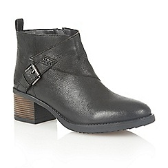 Lotus - Black leather 'Izzie' ankle boots