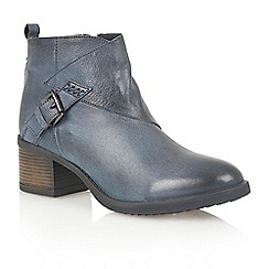 Lotus - Blue leather 'Izzie' ankle boots