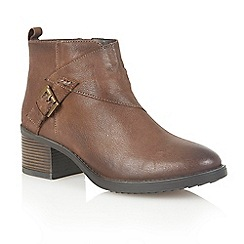 Lotus - Brown leather 'Izzie' ankle boots