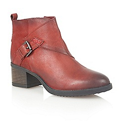Lotus - Dark red leather 'Izzie' ankle boots
