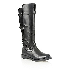 Lotus - Black leather 'Rydel' boots