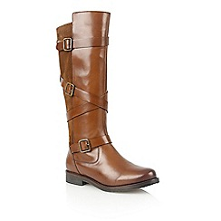 Lotus - Tan leather 'Rydel' boots