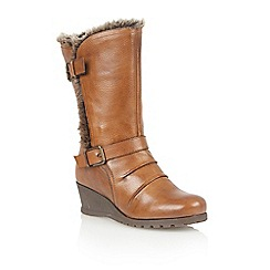 Lotus - Tan leather 'Krissy' calf boots