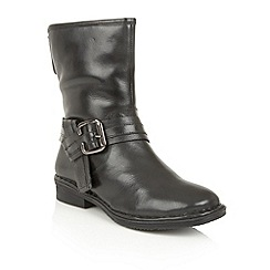 Lotus - Black leather 'Moyle' ankle boots
