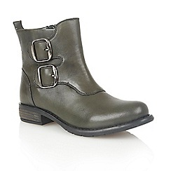Lotus - Green leather 'Jodie' ankle boots