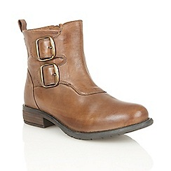Lotus - Tan leather 'Jodie' ankle boots