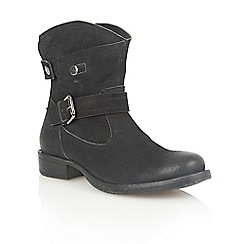 Lotus - Black leather 'Lilian' ankle boots
