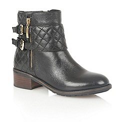 Lotus - Black leather 'Herkla' ankle boots