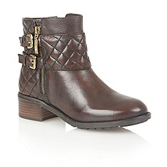 Lotus - Brown leather 'Herkla' ankle boots