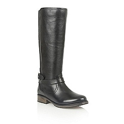Lotus - Black leather 'Poplar' boots