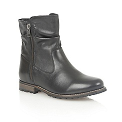 Lotus - Black leather 'Lorie' ankle boots