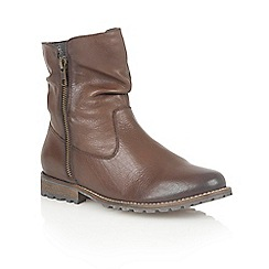 Lotus - Brown leather 'Lorie' ankle boots