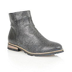 Lotus - Pewter leather 'Jeri' ankle boots
