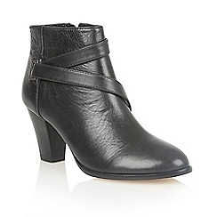 Lotus - Black leather 'Osier' ankle boots
