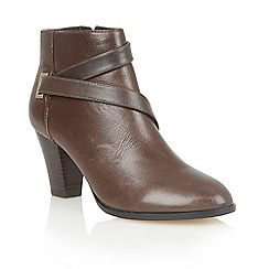 Lotus - Brown leather 'Osier' ankle boots