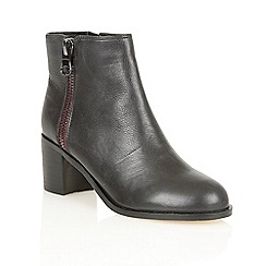 Lotus - Black leather 'Frances' ankle boots