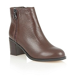 Lotus - Brown leather 'Frances' ankle boots
