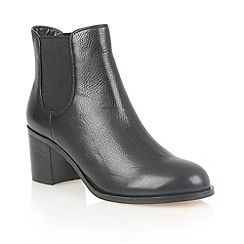 Lotus - Black leather 'Sonya' ankle boots