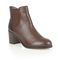 Lotus - Brown leather 'Sonya' ankle boots