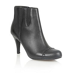 Lotus - Black leather 'Bea' ankle boots