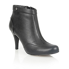 Lotus - Black leather 'Best' ankle boots
