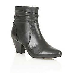 Lotus - Black leather 'Larch' ankle boots