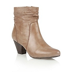 Lotus - Khaki leather 'Larch' ankle boots