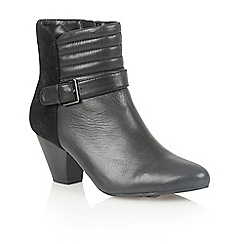 Lotus - Black leather 'Maude' ankle boots